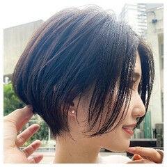 ショートボブ マッシュショート マッシュヘア ショートヘア ヘアスタイルや髪型の写真・画像