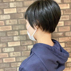 ハンサムショート ショートヘア ナチュラル 大人ショート ヘアスタイルや髪型の写真・画像
