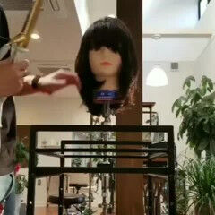 バーム ミディアム 大人かわいい フェミニン ヘアスタイルや髪型の写真・画像