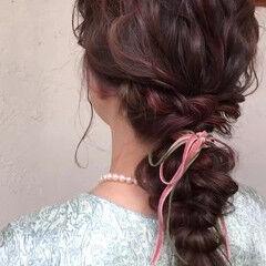 結婚式髪型 結婚式 ピンク 卒業式 ヘアスタイルや髪型の写真・画像
