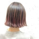 ピンク 外国人風カラー レッド ボブ