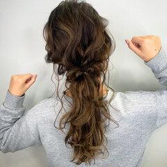 簡単ヘアアレンジ 編みおろしヘア 編みおろし ヘアアレンジ ヘアスタイルや髪型の写真・画像