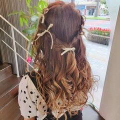 ヘアアレンジ 編み込みヘア ふわふわヘアアレンジ ロング ヘアスタイルや髪型の写真・画像