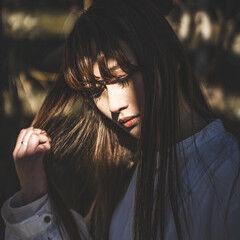 フェミニン 3Dハイライト ナチュラルベージュ ヌーディベージュ ヘアスタイルや髪型の写真・画像