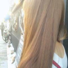 フェミニン ベージュ ナチュラル ピンク ヘアスタイルや髪型の写真・画像