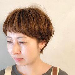 ナチュラル ベリーショート ワイドバング ショートバング ヘアスタイルや髪型の写真・画像