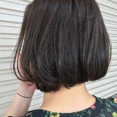 グレー ワンレングス 女子力 暗髪 ヘアスタイルや髪型の写真・画像