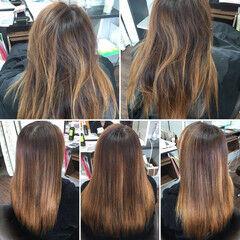 ロング ブリーチカラー 髪質改善トリートメント エレガント ヘアスタイルや髪型の写真・画像