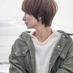 秋冬ショート マッシュショート ショート 小顔ヘア ヘアスタイルや髪型の写真・画像