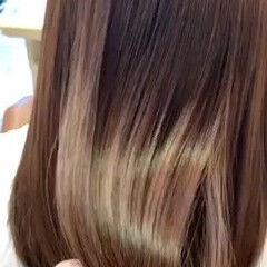 美髪 ロング ナチュラル 艶髪 ヘアスタイルや髪型の写真・画像