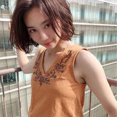 モテ髪 色気 ヘアアレンジ ボブ ヘアスタイルや髪型の写真・画像