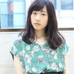リラックス ウェーブ モテ髪 フェミニン