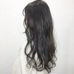 アンニュイ アッシュ ナチュラル レトロ ヘアスタイルや髪型の写真・画像