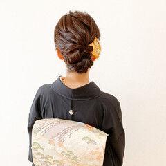 和装ヘア 結婚式ヘアアレンジ 留袖 黒留袖 ヘアスタイルや髪型の写真・画像