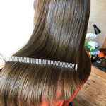 ナチュラル ロング 髪質改善トリートメント 髪質改善カラー