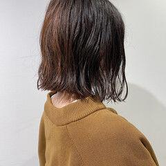 切りっぱなしボブ ボブ ナチュラル ニュアンスヘア ヘアスタイルや髪型の写真・画像