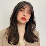 ロングヘア セミロング 韓国ヘア ナチュラル
