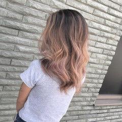 外国人風 ピンクブラウン 外国人風カラー 3Dカラー ヘアスタイルや髪型の写真・画像