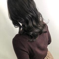 ナチュラル ダークカラー 透明感カラー 暗髪 ヘアスタイルや髪型の写真・画像