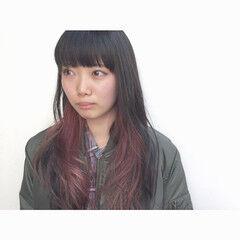 ブリーチ 波ウェーブ ロング 前髪あり ヘアスタイルや髪型の写真・画像
