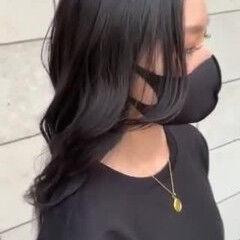 レイヤーカット 黒髪 艶髪 TOKIOトリートメント ヘアスタイルや髪型の写真・画像