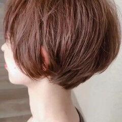 ショートマッシュ ナチュラル 毛先パーマ マッシュ ヘアスタイルや髪型の写真・画像