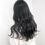 暗髪 透け感 オリーブグレージュ ナチュラル