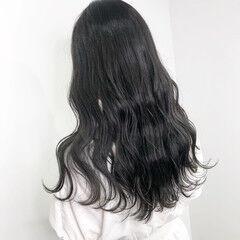暗髪 透け感 オリーブグレージュ ナチュラル ヘアスタイルや髪型の写真・画像