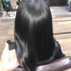 ナチュラル 髪の病院 ミディアム トリートメント ヘアスタイルや髪型の写真・画像