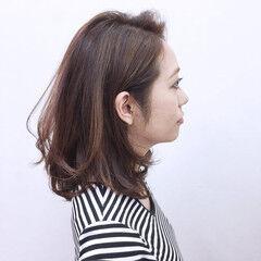 ハイライト ストリート ベリーピンク 冬 ヘアスタイルや髪型の写真・画像