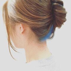 スモーキーカラー ロング ナチュラル ヘアアレンジ ヘアスタイルや髪型の写真・画像