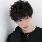 ショート メンズ パーマ 黒髪