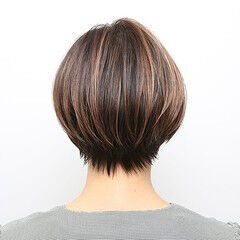 ハンサムボブ グラボブ ショート 大人グラボブ ヘアスタイルや髪型の写真・画像