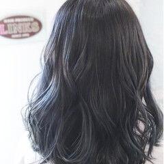 アッシュグレー アッシュグラデーション ガーリー グラデーションカラー ヘアスタイルや髪型の写真・画像