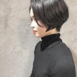 ナチュラル ショートボブ インナーカラー ショートヘア