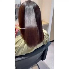 ナチュラル 最新トリートメント 髪質改善トリートメント セミロング ヘアスタイルや髪型の写真・画像