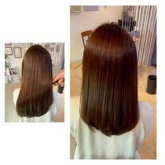 ロング 美髪 髪質改善 ナチュラル ヘアスタイルや髪型の写真・画像