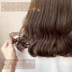 ナチュラル ショコラブラウン ミルクティーアッシュ ミルクティーグレージュ ヘアスタイルや髪型の写真・画像