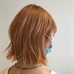 ゆる巻き 巻き髪 ミニボブ ナチュラル ヘアスタイルや髪型の写真・画像
