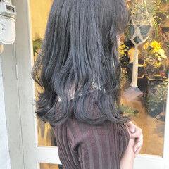セピアカラー ダークグレー グレージュ フェミニン ヘアスタイルや髪型の写真・画像