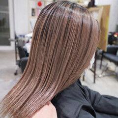 ナチュラル オレンジベージュ ミルクティーグレージュ ミルクティーベージュ ヘアスタイルや髪型の写真・画像
