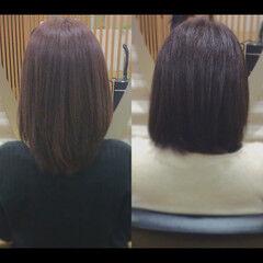 社会人の味方 セミロング 髪質改善カラー 髪質改善 ヘアスタイルや髪型の写真・画像