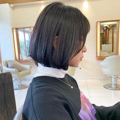 ショート 韓国風ヘアー ナチュラル 外ハネボブ ヘアスタイルや髪型の写真・画像
