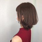 ミディアム イメチェン ナチュラル 髪質改善