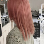 ペールピンク 透明感カラー ナチュラル ピンク