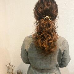 ヘアセット ポニーテールアレンジ ローポニーテール ヘアアレンジ ヘアスタイルや髪型の写真・画像