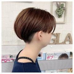 ナチュラル ツーブロック ショート かっこいい ヘアスタイルや髪型の写真・画像
