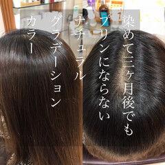 ダメージレス 髪質改善カラー 大人カラー ボブ ヘアスタイルや髪型の写真・画像