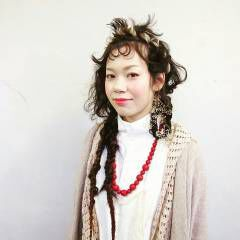 ヘアアレンジ ロング アンニュイ シースルーバング ヘアスタイルや髪型の写真・画像