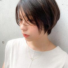 ショート ブリーチなし ナチュラル ショートヘア ヘアスタイルや髪型の写真・画像